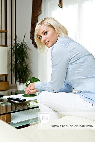 Interior  zu Hause  Frau  jung