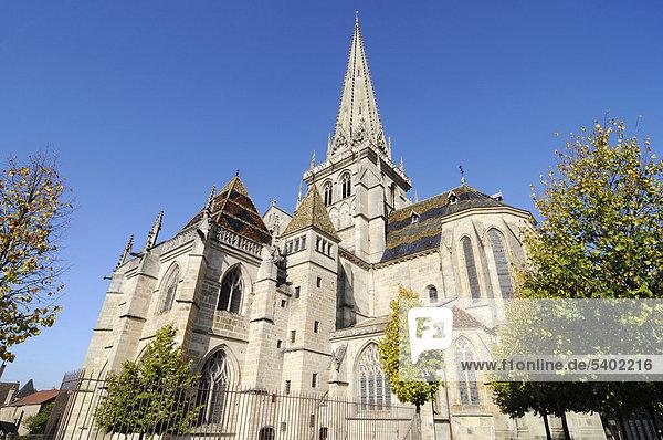 Kathedrale Saint-Lazare  Autun  Departement Saone-et-Loire  Bourgogne  Burgund  Frankreich  Europa  ÖffentlicherGrund