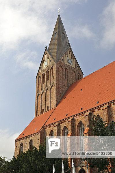 St.-Marien-Kirche  Barth  Mecklenburg-Vorpommern  Deutschland  Europa
