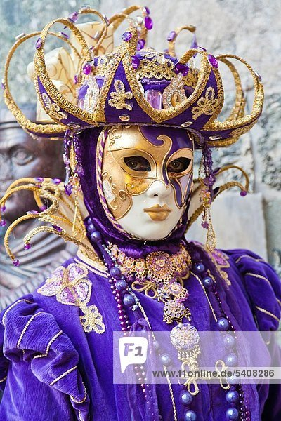 Europa  Frau  Karneval  Italien  Venedig