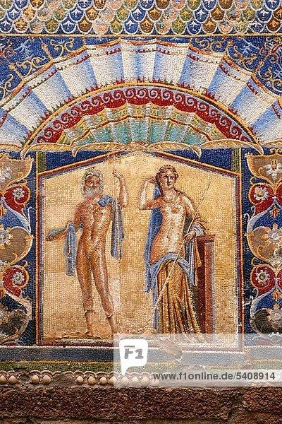 Wohnhaus Wassermann - Sternzeichen Kampanien Italien Mosaik