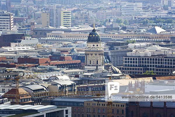 French Church  Franzoesische Kirche  aerial view  Berlin  Germany  Europe