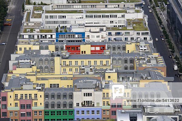 Reihenhaus Berlin Hauptstadt Europa Luftbild Deutschland