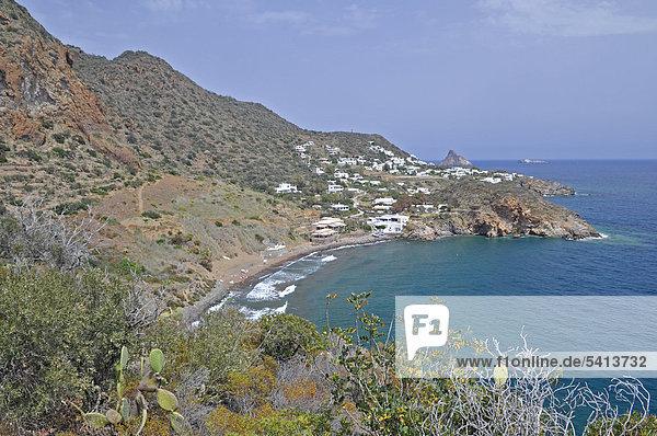 Bucht  Insel Panarea  Äolische oder Liparische Inseln  Sizilien  Süditalien  Italien  Europa