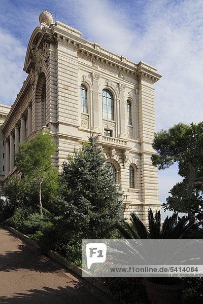 Ozeanografisches Museum auf dem Altstadtfelsen  Fürstentum Monaco  CÙte d'Azur  Europa
