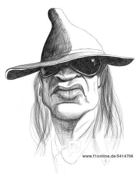 Karikatur Udo Lindenberg Karikatur Udo Lindenberg