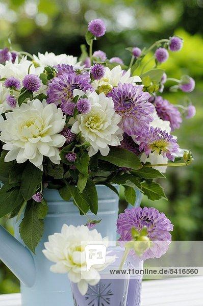 Blumenstrauß mit Klee und Dahlia