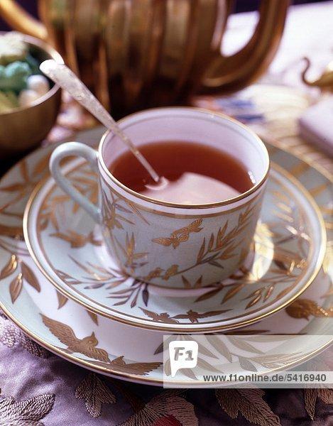 Tasse Tee im freien