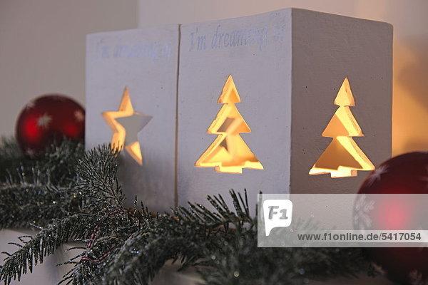 Weihnachten Dekoration Fenstersims
