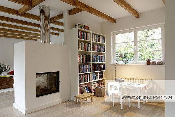 Helligkeit Zimmer Wohnkamin Wohnkamine Kamin Wohnzimmer modern