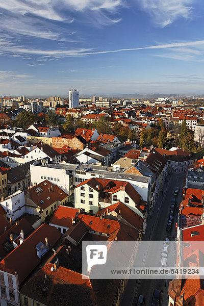 Cityscape of Ceske Budejovice  South Bohemia  Bohemia  Czech Republic  Europe