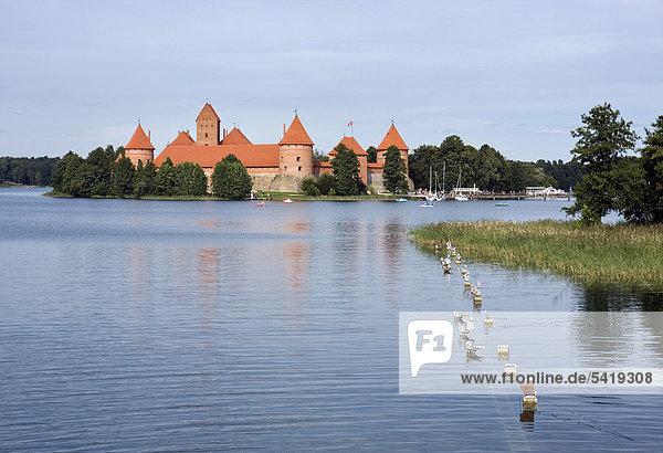 Inselburg in Trakai  Historischer Nationalpark von Trakai  Trakai  Litauen  Europa