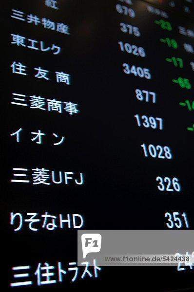 hoch  oben  nahe  einsteigen  Tokyo  Hauptstadt  ersetzen  Japan  handeln