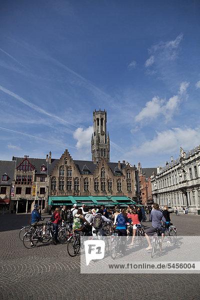 Belfried  Turm  Brügge  Weltkulturerbe der UNESCO  Flandern  Belgien  Europa