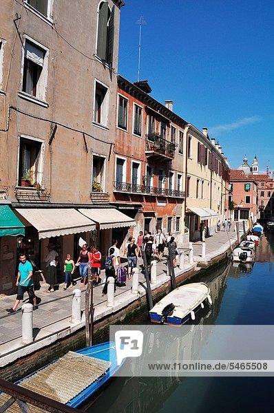 Venezia (Italy): houses along a canal