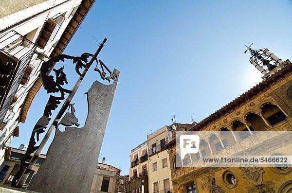 Halle  Stadt  Fassade  Aragonien  Spanien