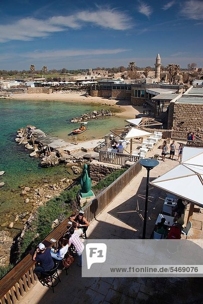 Israel  North Coast  Caesarea ruins of port built by Herod the Great in 22 BC