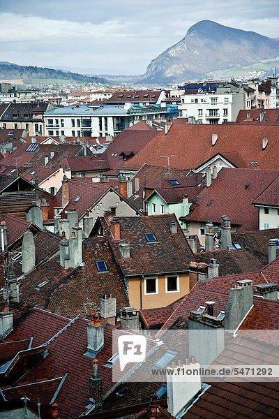 Frankreich Palast Schloß Schlösser Ansicht Haute-Savoie Annecy