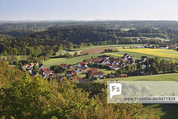 Plankenfels  Blick vom Plankenstein  Wiesenttal  Fränkische Schweiz  Oberfranken  Franken  Bayern  Deutschland  Europa