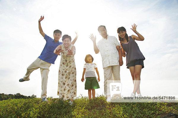 Asiatische Familie  mehrere Generationen