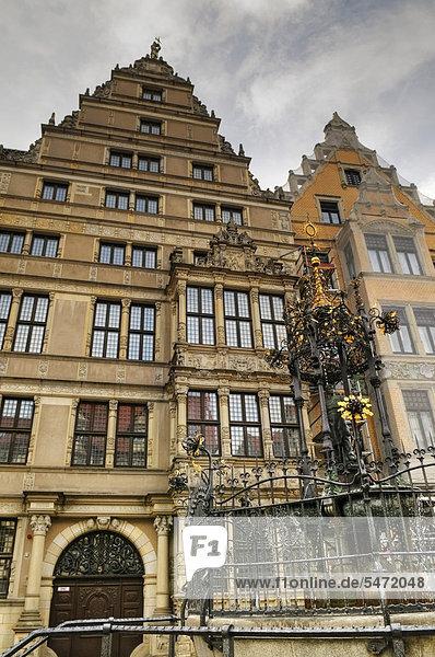 Europa Fassade Hausfassade Renaissance Deutschland Hannover Niedersachsen
