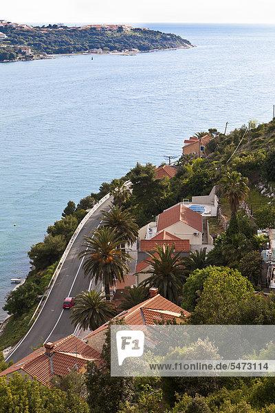 Europa Küste Fernverkehrsstraße Villa Kroatien Dalmatien Dubrovnik