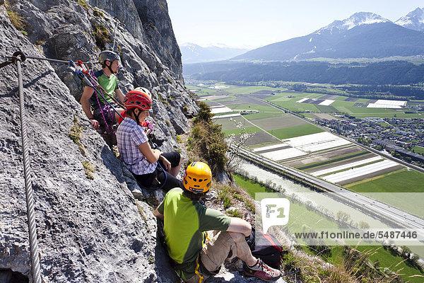 Kaiser Max Klettersteig : Europa iblles02088956 hinten das inntal nordtirol tirol