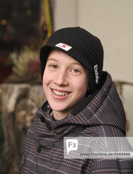Boy  12 or 13 years  portrait