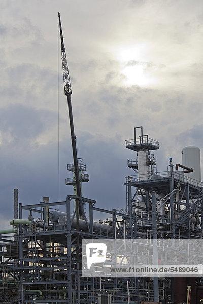 Baustelle des Heavy Oil Upgrade Projects an der Marathon Petroleum-Raffinerie  der Ausbau wird der Raffinerie ermöglichen  aus kanadischen Ölsänden schweres Rohöl zu gewinnen  Detroit  Michigan  USA
