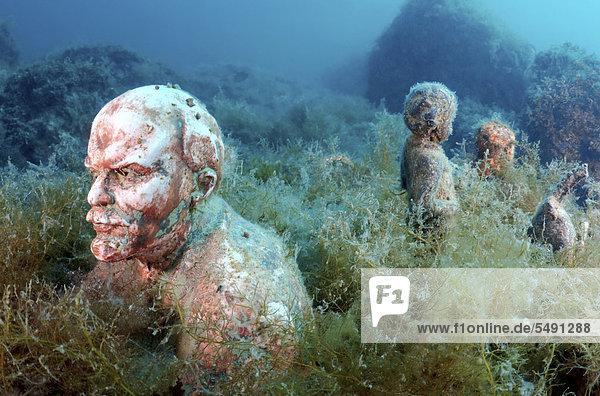 Unterwasser-Museum  Rote Führer  Wladimir Iljitsch Uljanow  Lenin  Skulptur  Kap Tarhankut  Tarhan Qut  Schwarzes Meer  Krim  Ukraine  Osteuropa  Europa