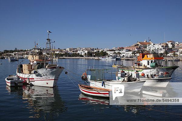 Fischereihafen  Lagos  Algarve  Portugal  Europa