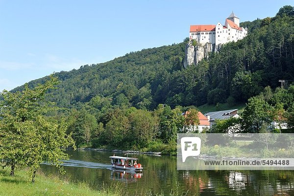 Prunn Castle at the Altmühl River  Germany