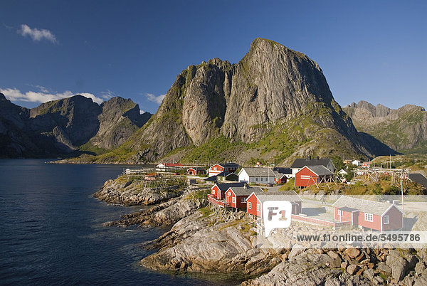Europa Küste Meer Norwegen Moskenesoy nordland