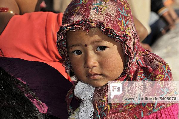 Young Nepali girl  portrait  Kathmandu  Kathmandu Valley  Nepal  Asia
