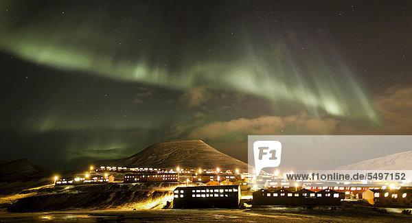 Panorama Europa Norwegen Spitzbergen Polarlicht Svalbard Aurora borealis
