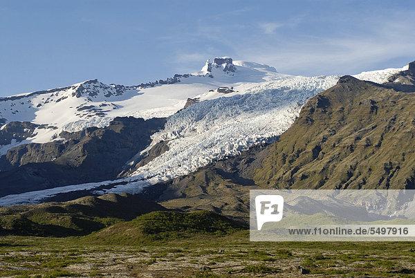 Am SvÌnafellsjökull  Skaftafell-Nationalpark  Island  Europa