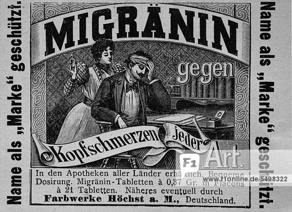 Werbeanzeige  veröffentlicht in der Gartenlaube im Jahr 1890 Werbeanzeige, veröffentlicht in der Gartenlaube im Jahr 1890
