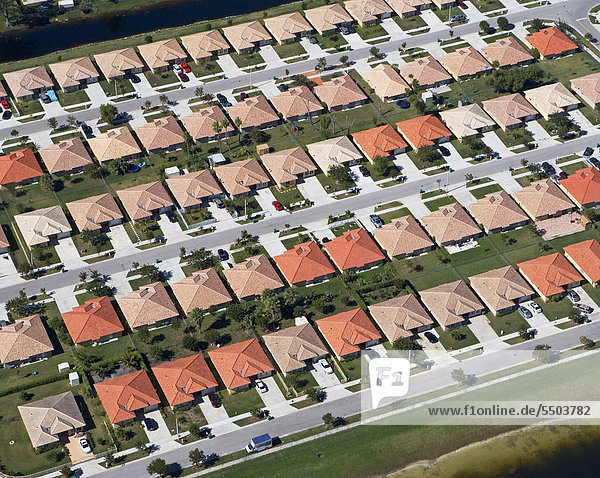 Gebäude Gemeinschaft Ansicht Luftbild Fernsehantenne