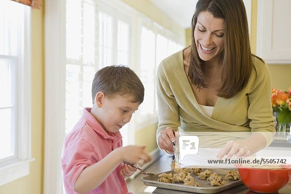 Sohn Produktion Keks Mutter - Mensch