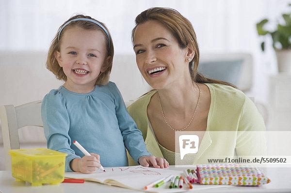 Mutter und Tochter Färbung