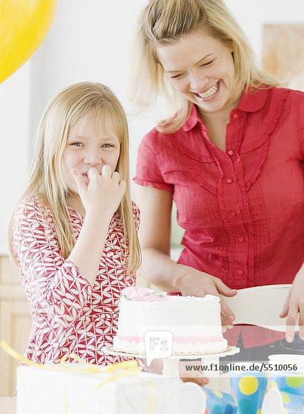 Geburtstag Kuchen Tochter Mutter - Mensch