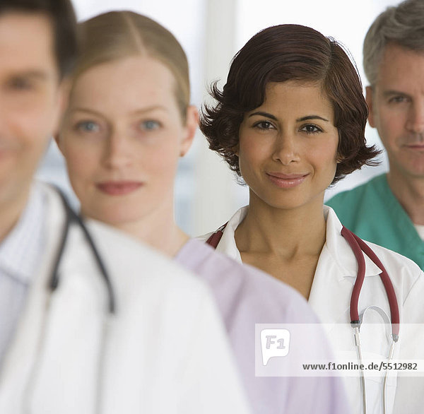 Row of medical professionals