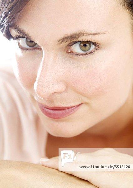 Closeup eine attraktive Frau
