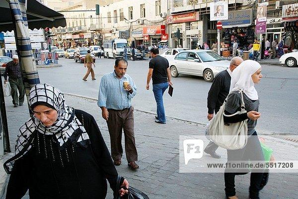 Street scene in downtown Amman  Jordan