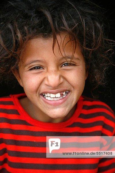 Portrait of a young bedouin girl  Petra  Jordan