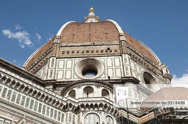 Kuppel  Dom Santa Maria del Fiore  Florenz  Toskana  Italien  Europa