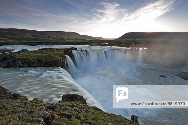 Godafoss waterfall  Skj·lfandafljÛt River  Iceland  Northern Europe  Europe