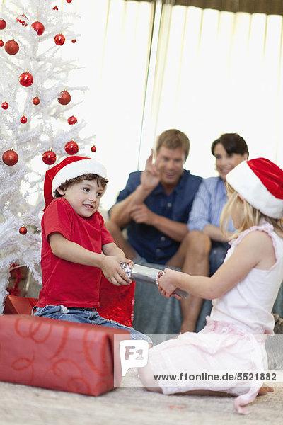 aufmachen, Weihnachten, Cracker
