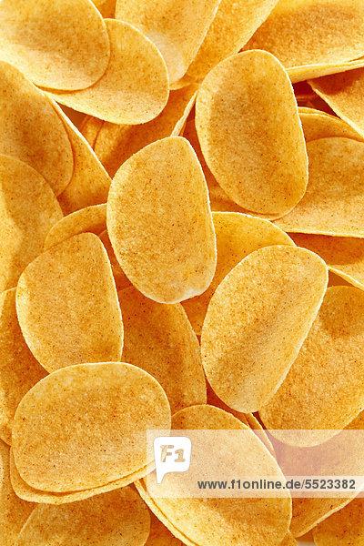 Ovale Paprika-Kartoffelchips  Stapelchips  formatfüllend