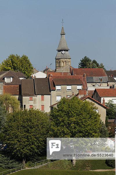 NÈris-les-Bains  ein Kurort im DÈpartement Allier  Frankreich  Europa